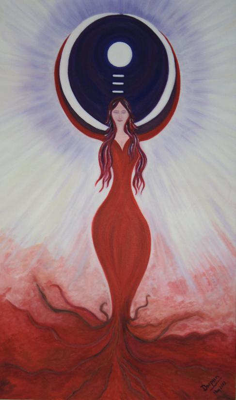 Shakti rising to meet Shiva